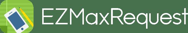 EZMaxRequest Logo white text